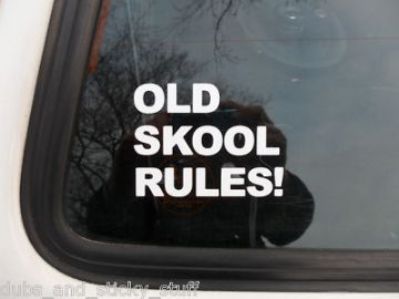 Old Skool Rules Sticker / Decal For vw volkswagen golf GTi, Jetta Mk2, Polo GTi